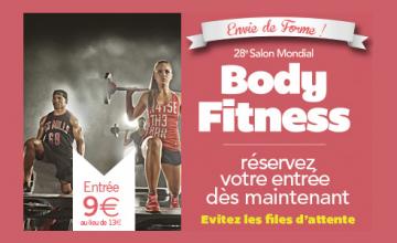 28ème Salon Mondial Body Fitness : La billetterie en ligne est ouverte !