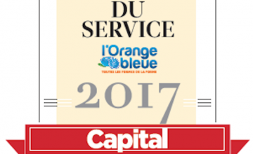 L'Orange Bleue reçoit le label « Leader du service 2017 ».