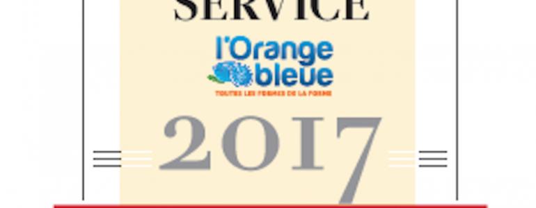 L'Orange Bleue reçoit le label « Leader du service 2017 ».