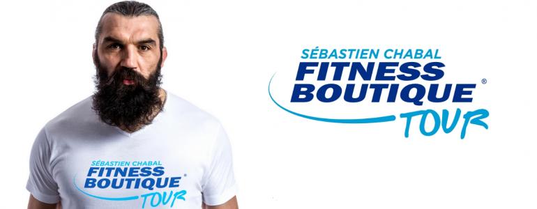Sébastien Chabal et FITNESSBOUTIQUE, partenaire du FITNESSBOUTIQUE TOUR !