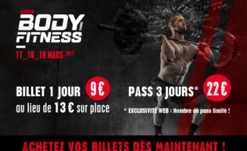 Salon Body Fitness Paris 2017 : la billetterie est ouverte, achetez vos billets dès maintenant !