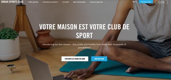 Urban Sports Club solidaire des clubs de fitness !