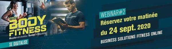 Body Fitness se digitalise grâce aux Webinaires Business Solutions Fitness online !