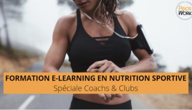 Formation en NUTRITION SPORTIVE pour les CLUBS de sport et pour les COACHS !