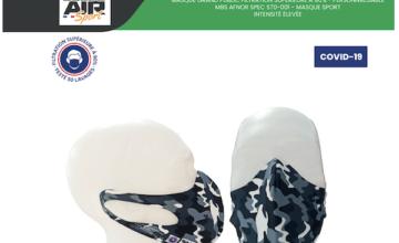 Masque de protection Boldo'Air sport, ergonomique et personnalisable.